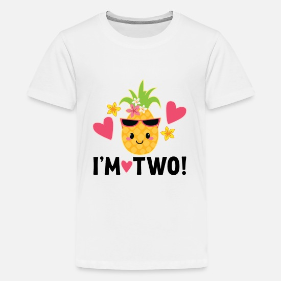 Birthday T-Shirts - 2nd Birthday Pineapple - Kids' Premium T-Shirt white