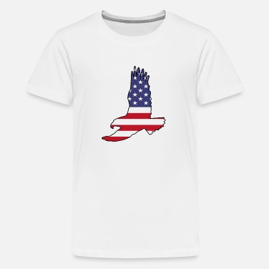 Flying Eagle With USA Flag Fill - Kids' Premium T-Shirt