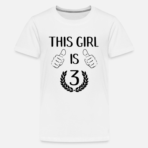 This Girl Is Three 3 Years Old Birthday Gift Idea By Grindelwald