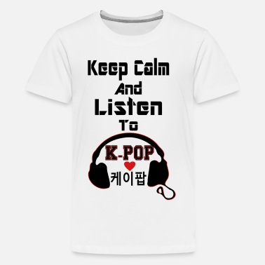 Secret ♥♫Keep Calm and Listen to K-Pop-I Love KPop♪♥ - Kids' Premium T-Shirt