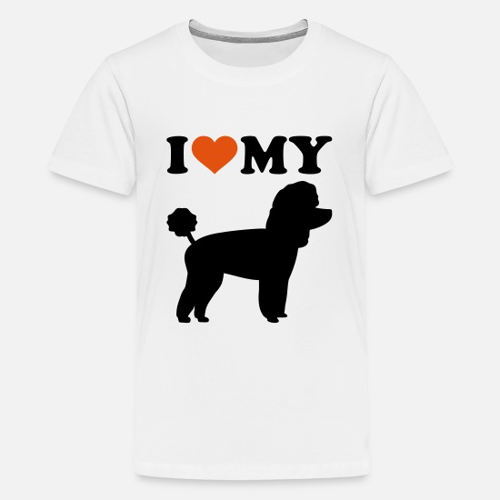 Love T-Shirts - Toy Poodle - Kids' Premium T-Shirt white