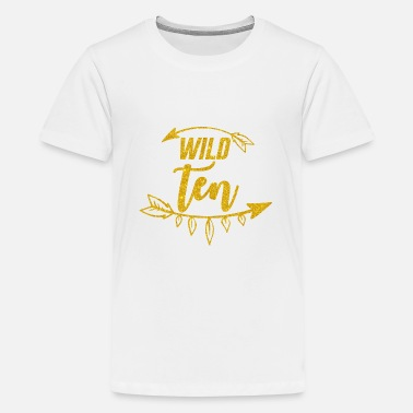 Baby Fashion Girls 10th Birthday/Wild 10 Glitter shirt - Kids' Premium T-Shirt
