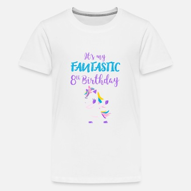8 Year Old fantastic 8th birthday unicorn gift - Kids' Premium T-Shirt