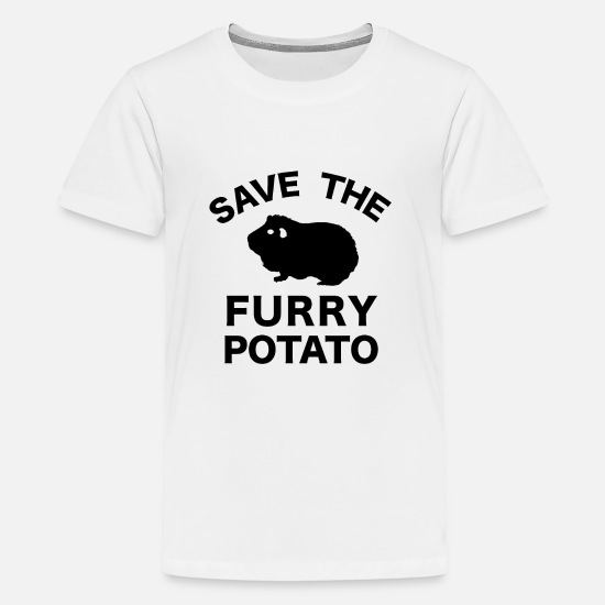 Enviromental T-Shirts - Save the Furry Potato - Kids' Premium T-Shirt white