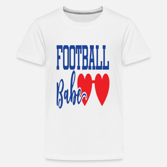 Legend T-Shirts - Football Babe - Kids' Premium T-Shirt white