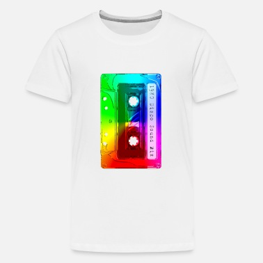 Abstract Music Cassette Tape Retro Music Mixtape 80s and 90s - Kids' Premium T-Shirt