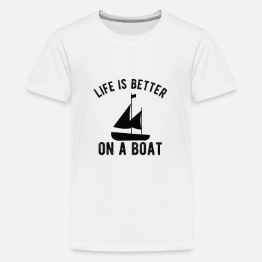 Banjo BOATING : Life is better on a Boat - Kids' Premium T-Shirt