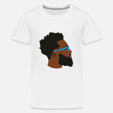 Afro Handsome Afro Man with Blue Glasses - Kids' Premium T-Shirt