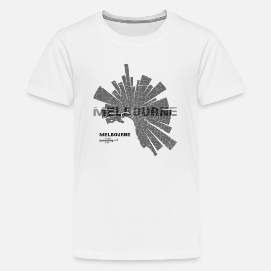 Metropolis T-Shirts - Melbourne Map - Kids' Premium T-Shirt white