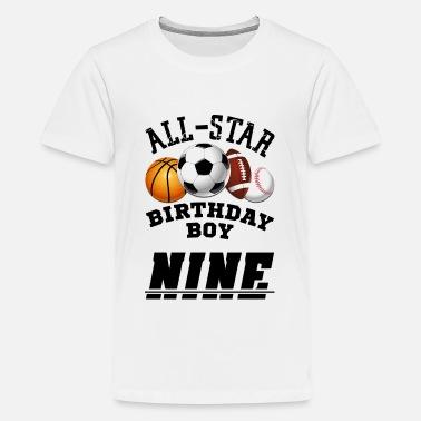 9th Birthday All Star Boy Sport Tee
