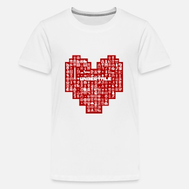 Undertale Heart Character Baby Lap Shoulder T-Shirt - white
