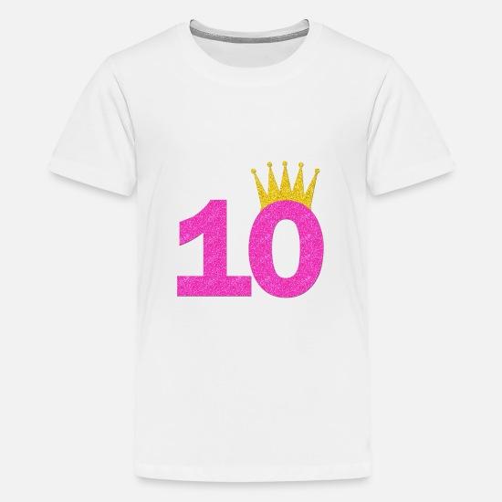 8c81ff78c 10th Birthday Crown Girl shirt/Birthday 10 Kids' Premium T-Shirt ...