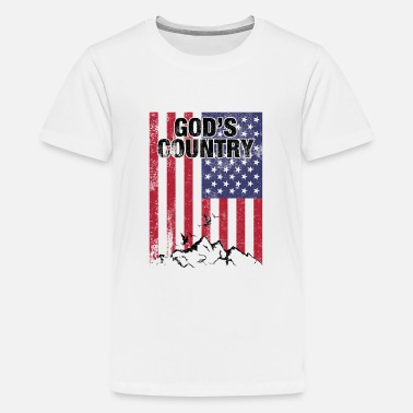 Country God's Country American Flag - Kids' Premium T-Shirt