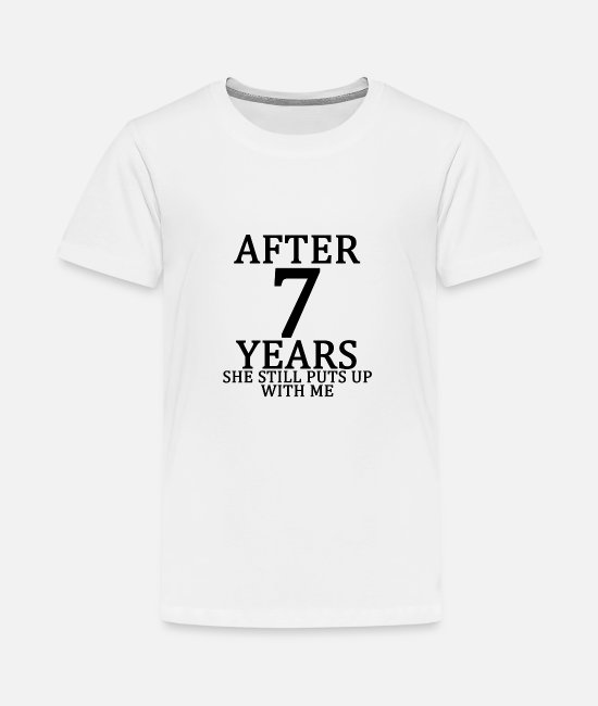 Engagement T-Shirts - seventh_7th_anniversary_married_funny_ts - Kids' Premium T-Shirt white