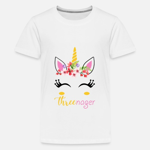 Kids Premium T ShirtThree Nager Unicorn 3rd Birthday Shirt