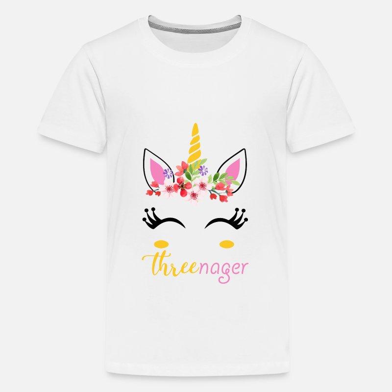 Three Nager Unicorn 3rd Birthday Shirt By T Expert