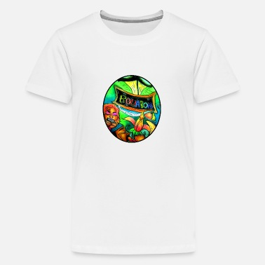Louisiana Street musician couple playing on Bourbon Street - Kids' Premium T-Shirt