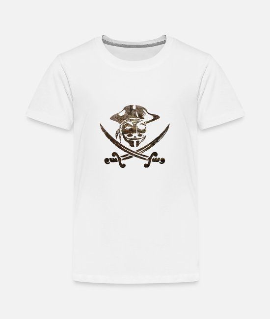 Anon T-Shirts - Digital Pirates - Kids' Premium T-Shirt white
