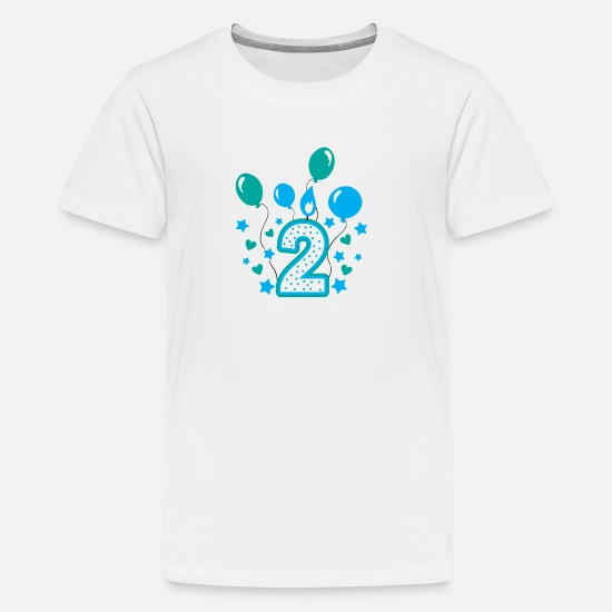 Second Birthday Boy 2nd Gift Godson 2 Kids Premium T Shirt