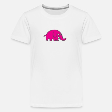 Pink Cartoon Elephant - Kids' Premium T-Shirt