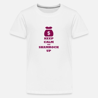Family Crest KEEP CALM AND SHAMROCK UP - Kids' Premium T-Shirt