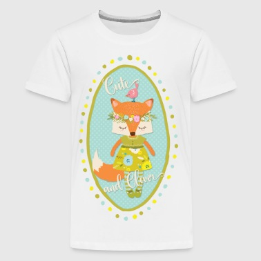 Cute and Clever Fox - Kids' Premium T-Shirt