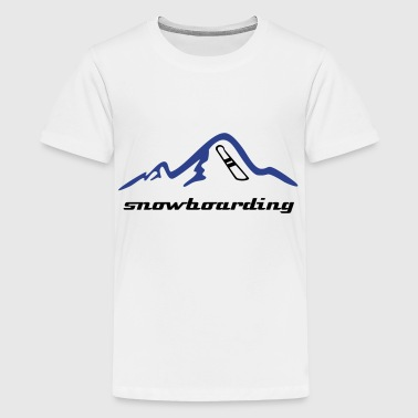 Mountains & Snowboard, snowboarding - Kids' Premium T-Shirt