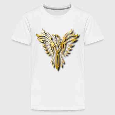 Rising Golden Phoenix - Kids' Premium T-Shirt