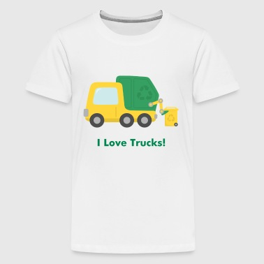 cute garbage truck - Kids' Premium T-Shirt