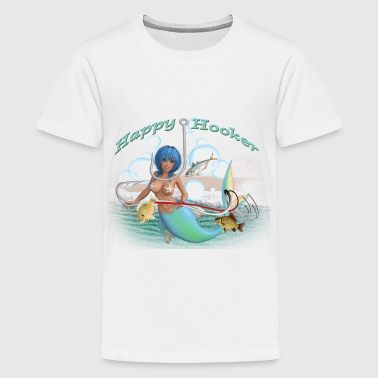 Happy Mermaid Hooker - Kids' Premium T-Shirt