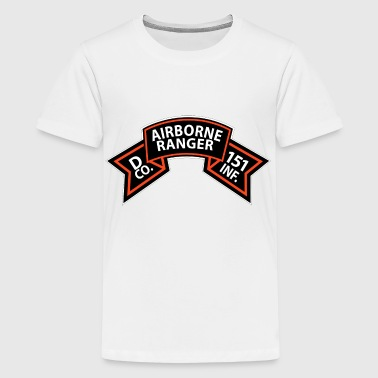 D Co 151st Infantry - Airborne Ranger Scroll - Kids' Premium T-Shirt