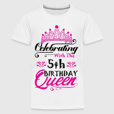 Celebrating With the 5th Birthday Queen - Kids' Premium T-Shirt