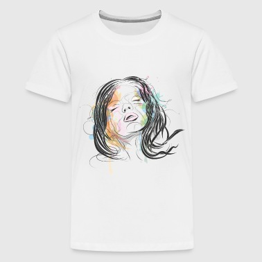 erotic portrait of a woman - Kids' Premium T-Shirt