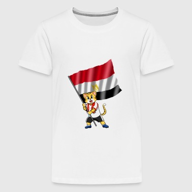 Egypt fan cat - Kids' Premium T-Shirt