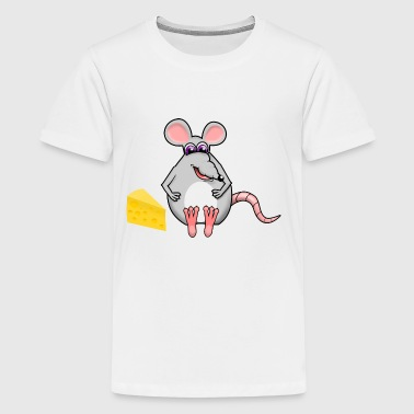 Mouse with Cheese for Kids Comic - Kids' Premium T-Shirt