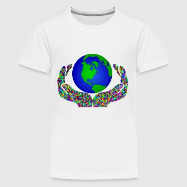 globus planet erde earth kontinente continents18 - Kids' Premium T-Shirt