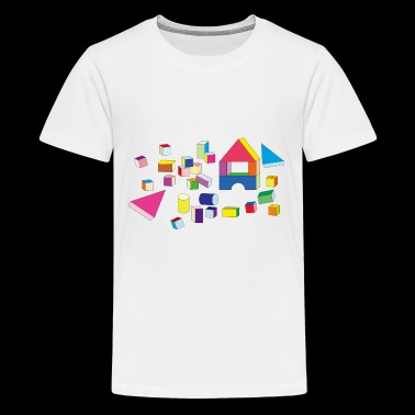 building blocks 2026061 1280 - Kids' Premium T-Shirt