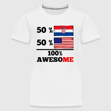 Half Croatian Half American 100% Awesome - Kids' Premium T-Shirt