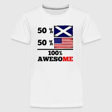 Half Scottish Half American 100% Awesome - Kids' Premium T-Shirt
