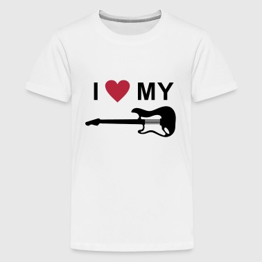 I love my guitar - Kids' Premium T-Shirt