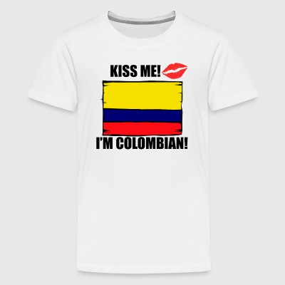 Kiss Me I'm Colombian - Kids' Premium T-Shirt