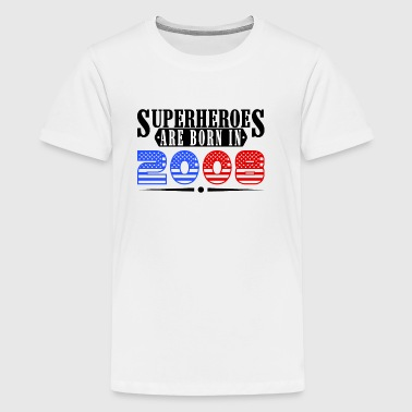Super heroes are born in 2008 - Kids' Premium T-Shirt