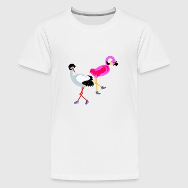 stork & flamingo - Kids' Premium T-Shirt