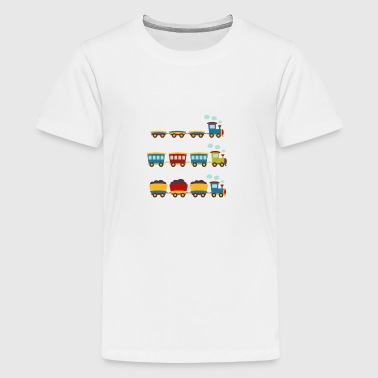Train T-shirt Design for Kids and Baby - Kids' Premium T-Shirt