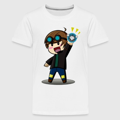 DAN TDM Cartoon Diamond Minecart - Kids' Premium T-Shirt