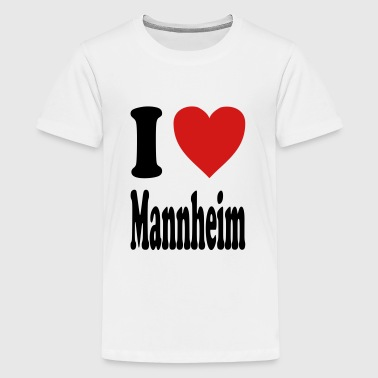 I love Mannheim (variable colors!) - Kids' Premium T-Shirt