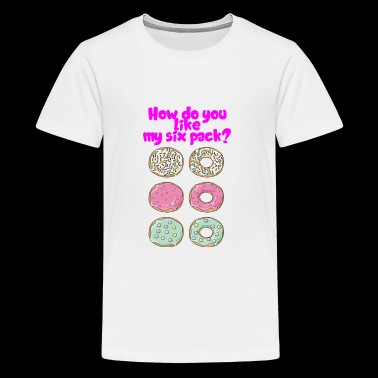 Funny Six Pack Donut Shirt for men and women - Kids' Premium T-Shirt