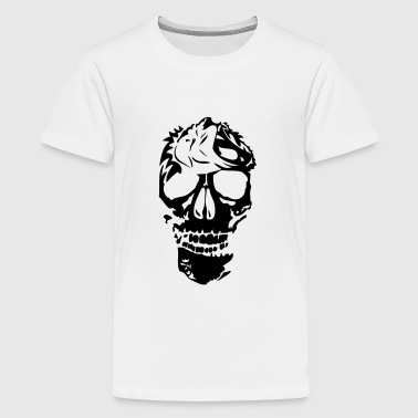 tribal lion skull head death 2 - Kids' Premium T-Shirt