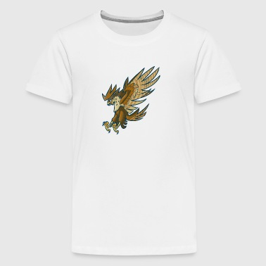 cartoon_falcon_or_hawk_swooping_or_diving - Kids' Premium T-Shirt