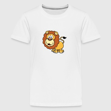 lion-wildlife-animal-smiling - Kids' Premium T-Shirt